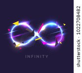 the infinity sign in the modern ... | Shutterstock .eps vector #1022708482