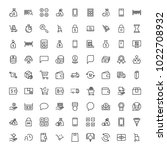 e commerce flat icon set .... | Shutterstock .eps vector #1022708932