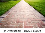 brick path or sidewalk with... | Shutterstock . vector #1022711005
