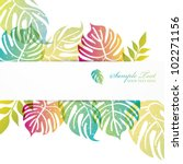 monstera background | Shutterstock .eps vector #102271156