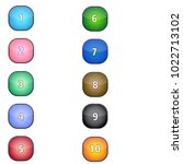 rounded square shaped number... | Shutterstock .eps vector #1022713102