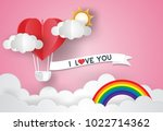 valentine's day concept.love... | Shutterstock .eps vector #1022714362
