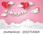 valentine's day concept.love... | Shutterstock .eps vector #1022714365
