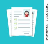 documents with personal data ... | Shutterstock .eps vector #1022718352