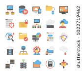 database and storage flat... | Shutterstock .eps vector #1022719462