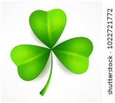 green clover leaf  three... | Shutterstock .eps vector #1022721772