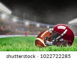 american football helmet and... | Shutterstock . vector #1022722285