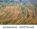 aerial view of fields with... | Shutterstock . vector #1022731168