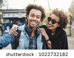 positive and emotive young... | Shutterstock . vector #1022732182
