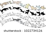 dogs design vector background | Shutterstock .eps vector #1022734126