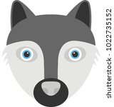 flat icon of the face of a... | Shutterstock .eps vector #1022735152