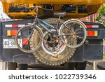 editorial use only  a bicycle... | Shutterstock . vector #1022739346