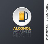 alcohol awareness month icon... | Shutterstock .eps vector #1022740882