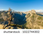 half dome rock and valley from... | Shutterstock . vector #1022744302