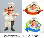 cook  chef. character and label.... | Shutterstock .eps vector #1022747098