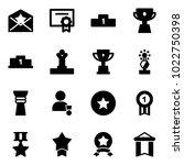 solid vector icon set   star...   Shutterstock .eps vector #1022750398