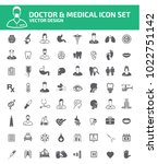 doctor and medical icon set... | Shutterstock .eps vector #1022751142