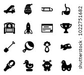solid vector icon set   trap... | Shutterstock .eps vector #1022751682