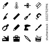 solid vector icon set   pipette ... | Shutterstock .eps vector #1022752996