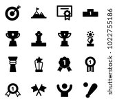 solid vector icon set   target... | Shutterstock .eps vector #1022755186