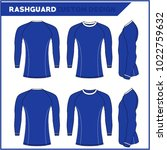 rash guards template   Shutterstock .eps vector #1022759632