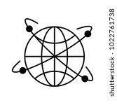 sphere planet with orbit lines | Shutterstock .eps vector #1022761738
