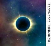 astronomy effect solar eclipse. ...   Shutterstock . vector #1022763796