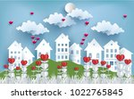 illustration of love and... | Shutterstock .eps vector #1022765845