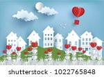 illustration of love and... | Shutterstock .eps vector #1022765848