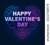 bright happy valentine's day... | Shutterstock .eps vector #1022768575
