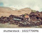 old village dartlo with... | Shutterstock . vector #1022770096
