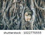 worship of thailand buddha... | Shutterstock . vector #1022770555