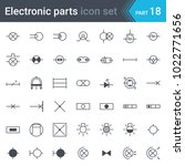 electric symbols set of lighting | Shutterstock .eps vector #1022771656