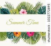 summer tropical vector design... | Shutterstock .eps vector #1022772895