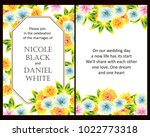 romantic invitation. wedding ... | Shutterstock . vector #1022773318