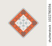linear arabic ornament. vector... | Shutterstock .eps vector #1022780356