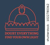 sitting meditating buddha icon. ... | Shutterstock .eps vector #1022780362