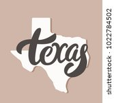 texas state. lettering and... | Shutterstock .eps vector #1022784502