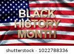 black history month  african... | Shutterstock . vector #1022788336