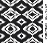 seamless pattern turkish carpet ... | Shutterstock .eps vector #1022789125