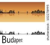 budapest skyline in orange... | Shutterstock .eps vector #102278995