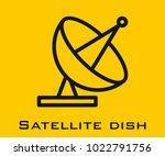 satellite dish vector icon | Shutterstock .eps vector #1022791756