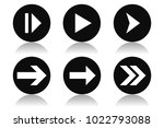 arrow icons. round black icons...   Shutterstock .eps vector #1022793088