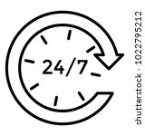 full time services  line icon... | Shutterstock .eps vector #1022795212