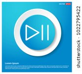 play pause icon abstract blue...