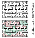 illustration with labyrinth ... | Shutterstock .eps vector #1022796676