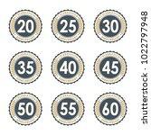 20 25 30 35 40 45 50 55 60... | Shutterstock .eps vector #1022797948