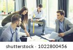 group of young business people... | Shutterstock . vector #1022800456