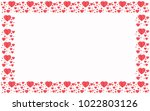 red hearts on white background... | Shutterstock .eps vector #1022803126