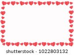 red hearts on white background... | Shutterstock .eps vector #1022803132